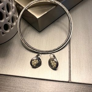 Trifari Jewelry - Trifari vintage Silver earrings & Bracelet…